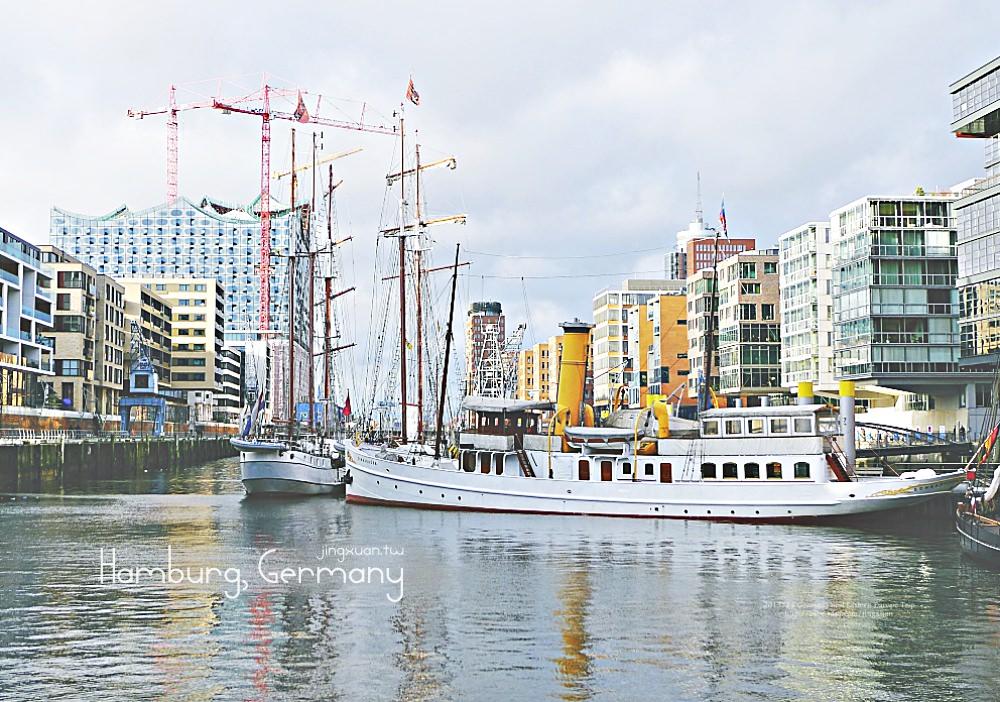 [德國遊記] 面向北海 在易北河之緣漫步-漢堡港 漢堡魚市場 蘇聯U434潛水艇 瑞克莫號 聖地牙哥船長號 易北愛樂廳 漢堡港城 漢堡國際海事博物館  Around Norderelbe riverside and the port of Hamburg