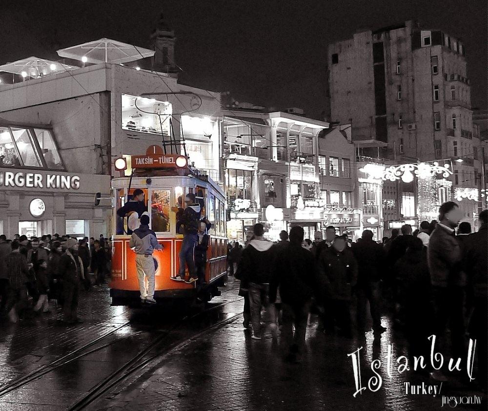 [土耳其遊記] 伊斯坦堡新城區 世上最短及第二古老的地鐵線 Tünel 穿梭獨立大道與塔克辛姆廣場的紅色復古電車 Taksim-Tünel Nostalgia Tramway