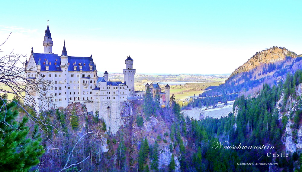 德國自助、巴伐利亞景點|新天鵝城堡、高天鵝城堡.仿中世紀騎士古堡、阿爾卑斯山森林裡童話天鵝城堡,羅曼蒂克大道起訖點!