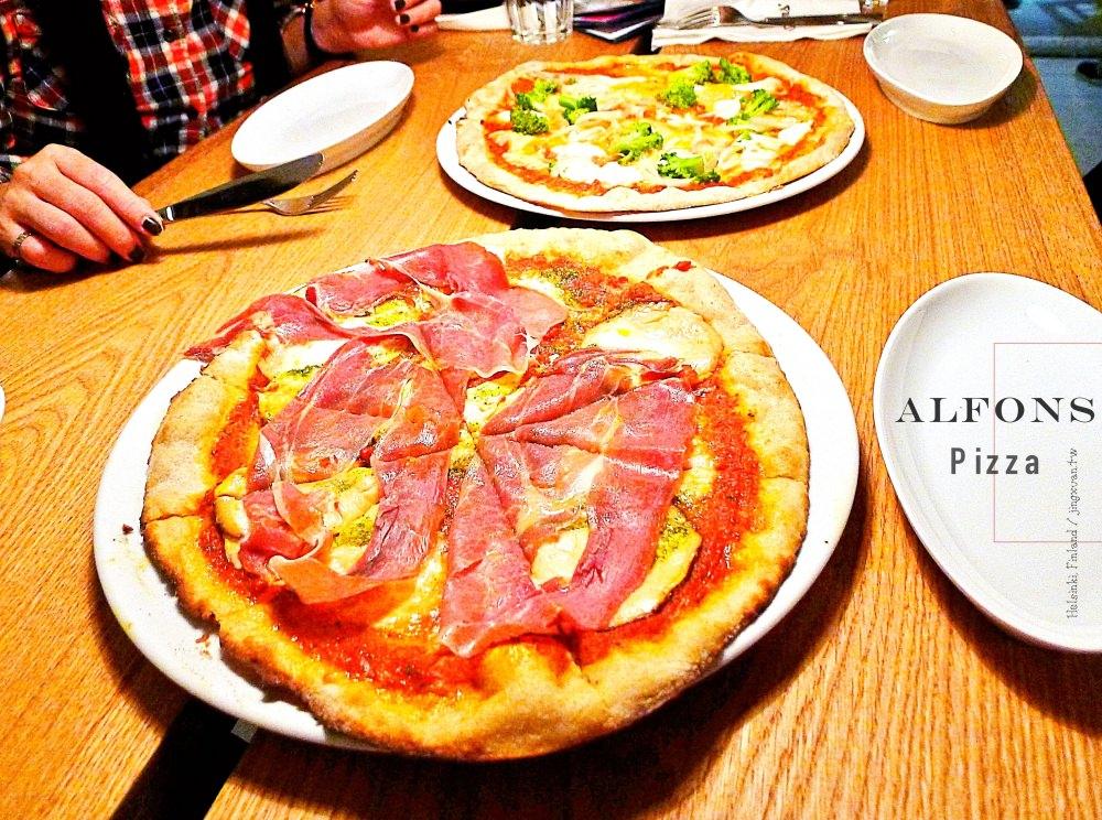 芬蘭自助、赫爾辛基美食|Alfons Pizza.隱身民宅社區手作北歐披薩,赫爾辛基在地人推薦美食!也推芬蘭味濃牛奶巧克力糖 FAZER Da Capo!
