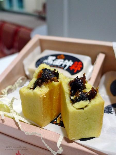[試食]黑面神蒜.養生黑蒜鳯梨酥與核桃糕 Black Garlic Cake
