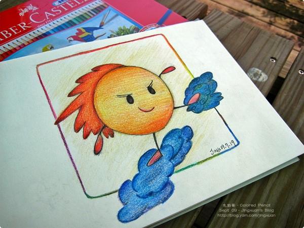 [色鉛筆8&9]色鉛筆畫法.實際操作(構圖、主角、配色).作品賞析