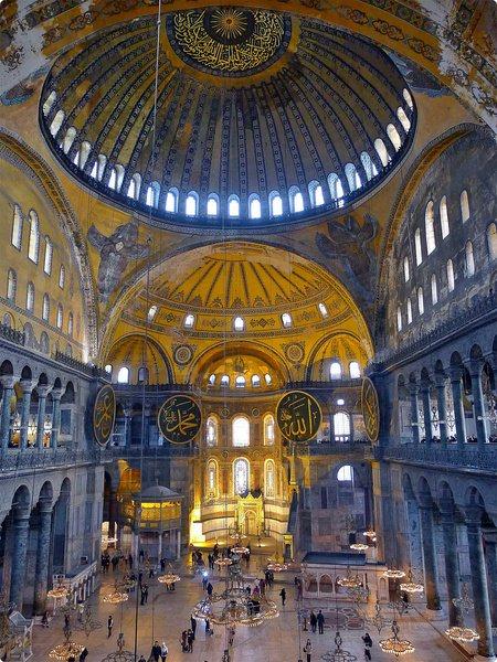 [土耳其遊誌] 聖索菲亞博物館(1)-曾是東正教 羅馬天主教大教堂及伊斯蘭教清真寺 漂浮的圓頂 精緻的拜占庭馬賽克鑲嵌圖 AyaSofya Müzesi (Hagia Sophia Museum), Istanbul