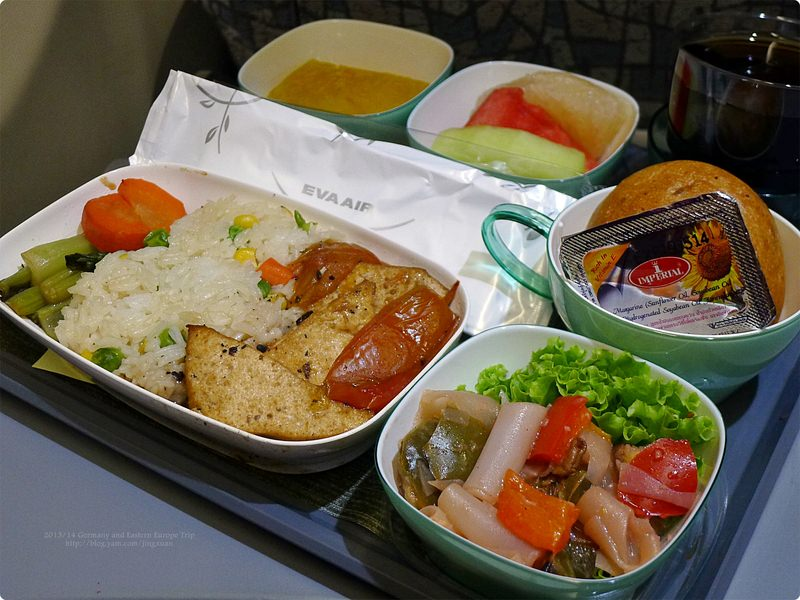 [德國食誌]Outbound Flight︰長榮素食航空餐.Eva Air's Vegetarian Meal(Supper and Breakfast)