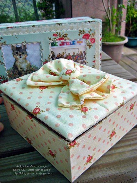 [布盒5]Le Cartonnage.上下蓋長布盒.蝴蝶連結蓋式方形布盒