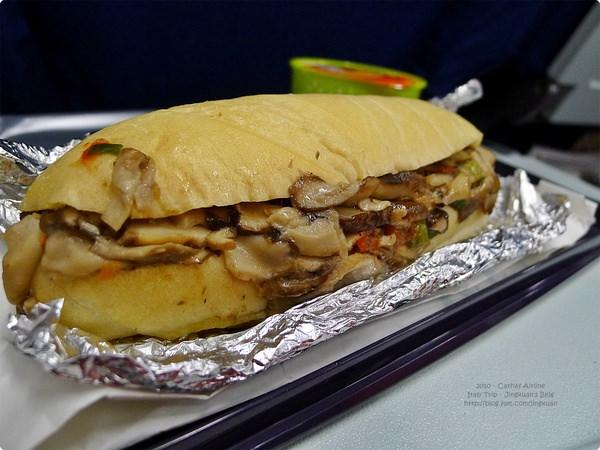[義大利食誌]Outward Flight︰國泰素食航空餐.Cathay Airline and Vegetarian Meal