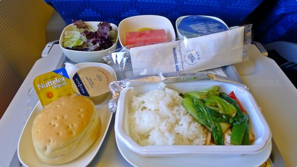 [韓國食誌]Inbound Flight:韓航素食航空餐.Korean Airline Vegetarian Meal(Lunch)