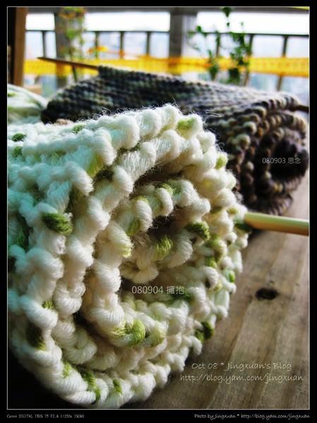 [毛線]圍巾.080903思念.080904擁抱