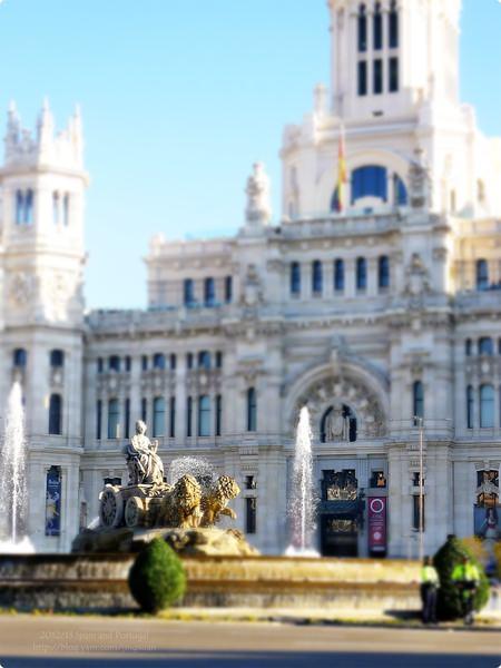 [西班牙遊記] 格蘭大道與希比雷斯廣場-小紐約與小巴黎的融合 勝利女神像 自然女神西貝萊Cybele噴泉 機場巴士起訖站.Plaza de Cibeles, Palacio de Comunicaciones and Gran Vía