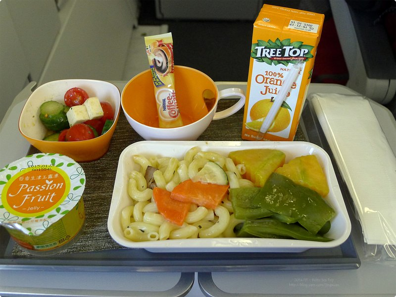 [波波食誌]Outward Flight︰長榮航空素食餐.Eva Air's Vegetarian Meal