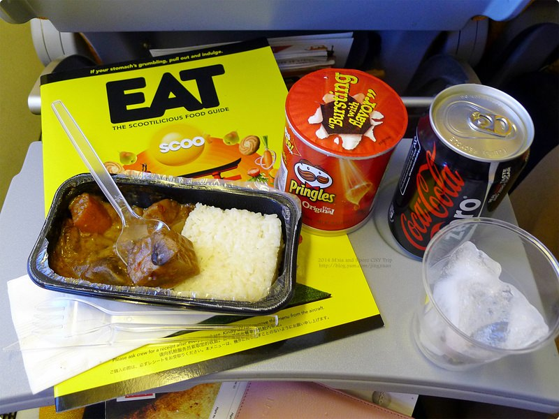 [馬新食誌]Outward Flight:酷航付費航空餐點與樟宜機場第二航廈.Scoot Airline In-Flight Meal and T2, Changi Int'l Airport