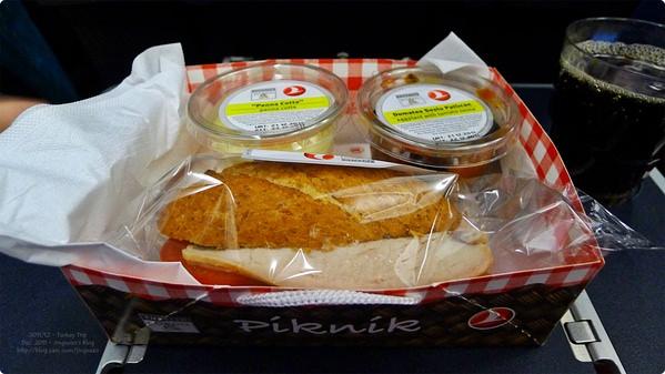 [土耳其食誌]Outward Flight︰土航輕食航空餐.Turkish Airline and Light Meal(Supper)